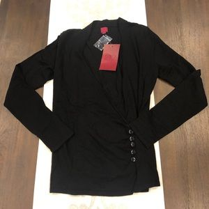 NWT  black 212 size small long sleeve sweater